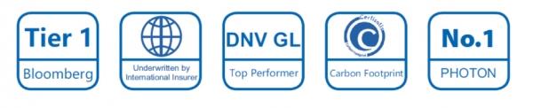 Sellos internacionalmente reconocidos como, el Tier 1, DNV GL o el otorgado por la revista Photon No.1.